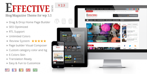 EffectiveNews - Responsive WP News Magazine Blog