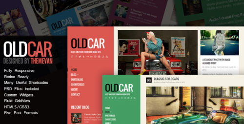 OldCar - Responsive Blog & Grid WP Theme