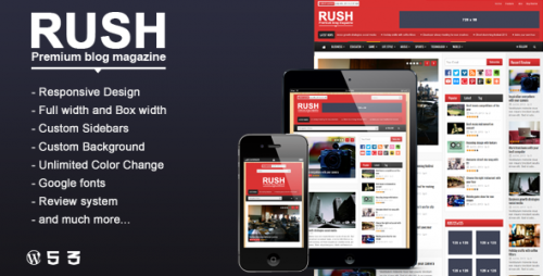 Rush - WordPress Blog & Magazine Theme