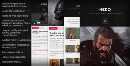 HERO - No-nonsense Mobile Theme for WordPress