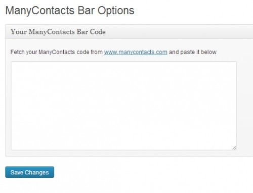 ManyContacts Bar