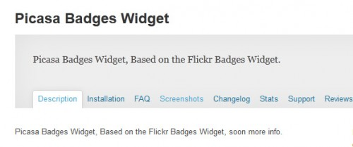 Picasa Badges Widget