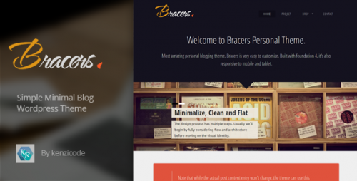 Bracers Personal - Minimal Blog WP Theme