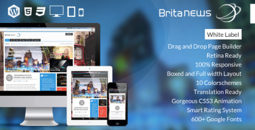 BritaNews - Animated News, Magazine Theme
