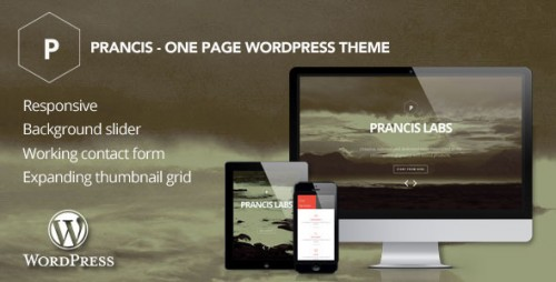 Prancis - One Page WordPress Theme