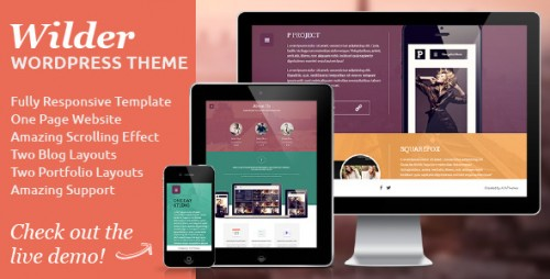 Wilder - Flat One Page Responsive WP Theme
