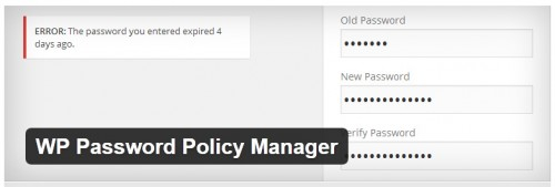 WP Password Policy Manager