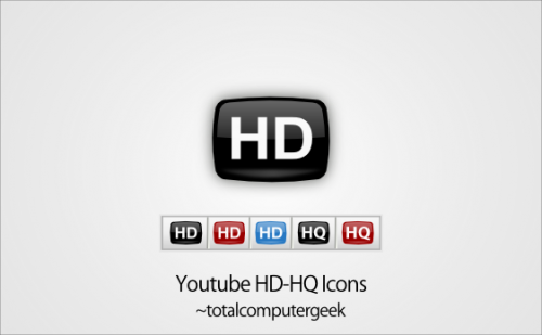 Youtube HD-HQ Icons