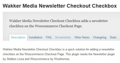 Wakker Media Newsletter Checkout Checkbox