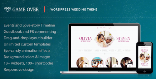 Game Over - Responsive Wedding Event Planning Theme