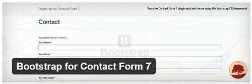 Bootstrap for Contact Form 7