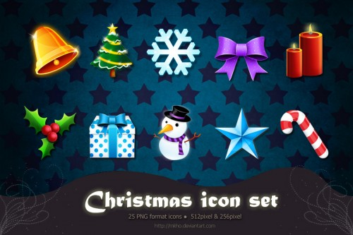 25 Elegant Christmas Icons for Free Download