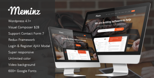 Meminz - Landing Page WordPress Theme