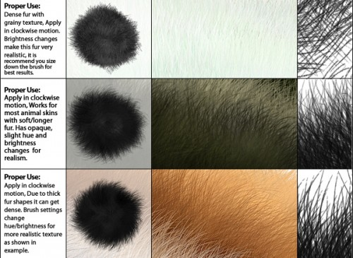 4 Free Fur Brushes To Download