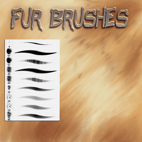 Cool Photoshop Fur Brushes