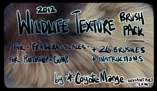 Wildlife Texture Brushes for Free Download
