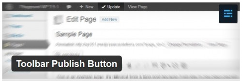 Toolbar Publish Button