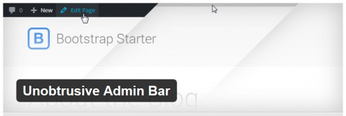 Unobtrusive Admin Bar