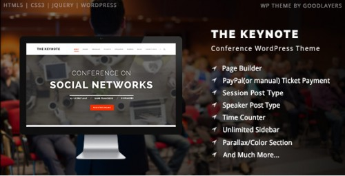 The Keynote - Conference, Event, Meeting WordPress Theme