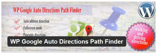 WP Google Auto Directions Path Finder