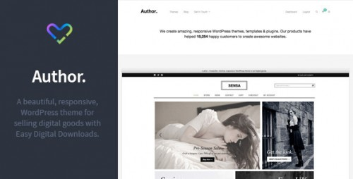 Author - Responsive Digital Goods WordPress Theme