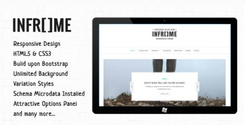 Inframe - Personal WordPress Blog Theme
