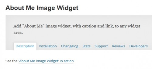 About Me Image Widget