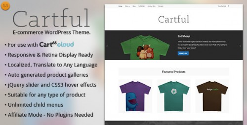 Cartful - Best Ecommerce WP Theme for Cart66