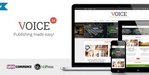 Voice - Clean News, Magazine WordPress Theme