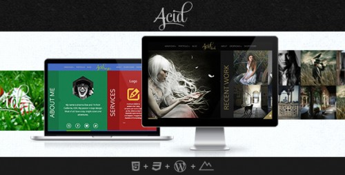 Acid - Blog and Portfolio WordPress Theme
