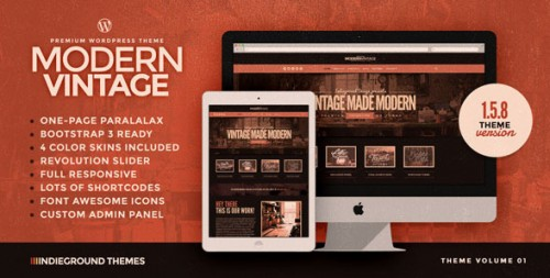 Modern Vintage - One Page WordPress Theme