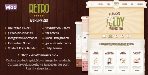 Retro - Vintage WordPress Theme