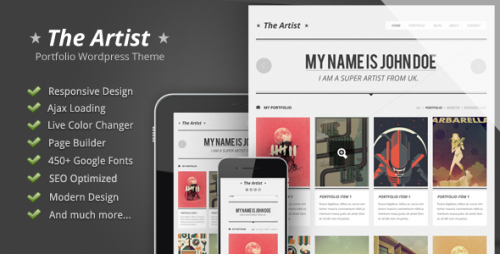The Artist - Retro Style WordPress Themes