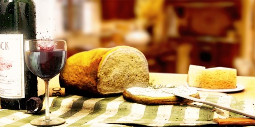 Bread and Wine - Still Life