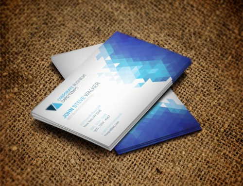 Minimal Metro Style Business Card Template
